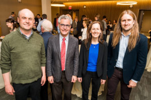Chemistry faculty at a reception