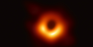 an orange ring on a black background