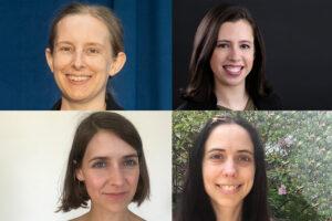 headshots of four women